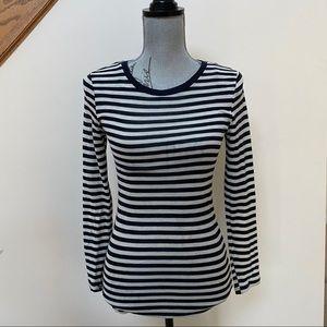 Cos brand 100% wool black striped thin sweater